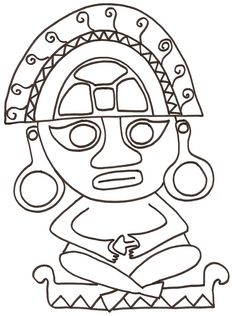Coloring pages Mexico and Central America