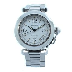 Cartier Pasha C Automatic Midsize Stainless Steel Date Unisex Watch W31015M7 #Cartier #LuxurySportStyles