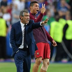 A memorable night for the Portugal coach(es) #EURO2016