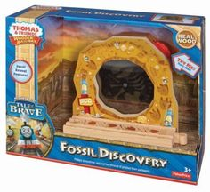 Thomas Dinosaur Wooden Train Set Fossil Discovery Tale of Brave Interactive NEW  #FisherPriceMattelThomastheTankEngine