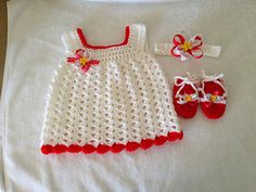 Easy baby Sun Dress pattern by Carol Garcia.  Try using I Love This Yarn in Kaleidoscope.