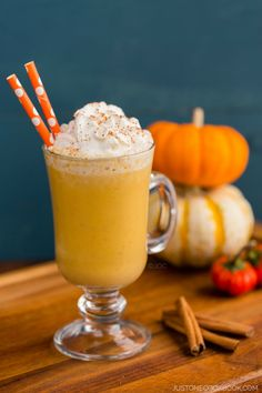 Pumpkin Smoothie | Easy Japanese Recipes at JustOneCookbook.com @justonecookbook