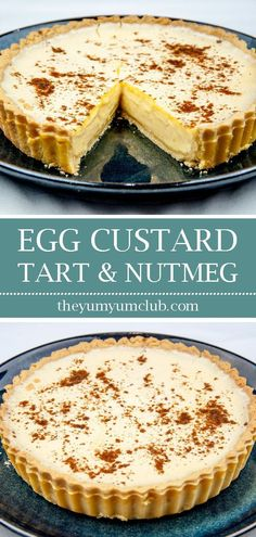Traditional egg custard tart with nutmeg. What a delicious dessert. We love this simple recipe in our house. Easy to make, and the kids can help! Custard Recipes, Egg Recipes, Baking Recipes, Snack Recipes, Dessert Recipes, Egg Custard Tart Recipe, Custard Desserts, Dinner Recipes, Easy Tart Recipes