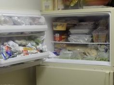 making use of freezer and pantry space ...areas where I fail big-time!