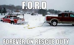 Looks about right, but my truck is white and just like the one doing the pulling out of a snow bank. ;)