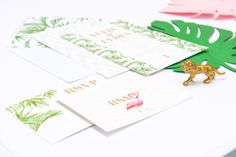 Buy Abigail Warner Tropical Personalised Day Invitations from our Notecards & Invitations range at John Lewis & Partners. Wedding Stationery, Wedding Invitations, Gold Pineapple, Leaf Prints, John Lewis, Note Cards, Big Day, Tropical, Place Card Holders