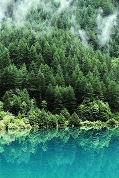 Turquoise lake, China