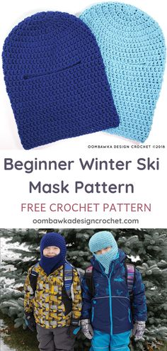 Crochet Hats Patterns Stay Warm this Winter with my Free Beginner Winter Ski Mask Pattern Yarn: Medium Weight Hook: mm (I) Yarn Used: Red Heart with Love or Red Heart Super Saver! Quick to crochet. Cozy to wear! Crochet Winter, Crochet For Kids, Easy Crochet, Free Crochet, Crochet Cozy, Beginner Crochet, Crochet Mask, Crochet Gloves, Crochet Beanie