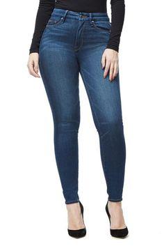 Good American Good Waist High Rise Medium Wash Skinny Jeans SZ Kardashian in Clothing, Shoes & Accessories, Women, Women's Clothing, Jeans Long Tunic Dress, Striped Linen, Women Brands, High Waist Jeans, Skinny Jeans, Plus Size, Clothes For Women, My Style, American