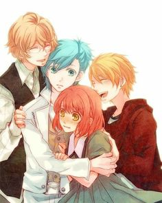 Uta no☆prince-sama♪, Mikaze Ai, Kurusu Shou, Shinomiya Natsuki, Nanami Haruka Manga Couples, Cute Anime Couples, Sad Anime, Manga Anime, Anime Boys, Song Images, Anime Group, Romance, Uta No Prince Sama