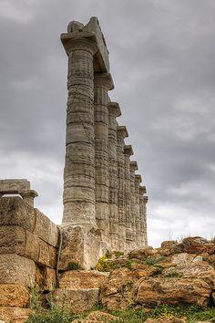 Temple of Poseidon | Temple of Poseidon, Cape Sounion, Attica, Greece