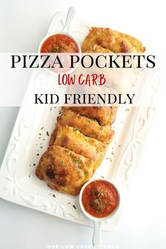 Our daughter (and my husband) absolutely LOVE these delicious pizza pockets for lunch! Make sure to make extra for seconds! #lowcarbkidfriendlyfreesermeals Healthy Low Carb Recipes, Low Carb Dinner Recipes, Keto Recipes, Chicken Lunch Recipes, Low Carb Chicken Casserole, Ground Beef Recipes For Dinner, Low Carb Meal Plan, Low Carb Pizza, Pizza Pockets