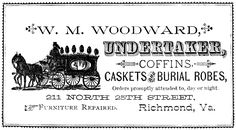 undertaker ads for newspaper ~ free Halloween printable   from The Graphics Fairy