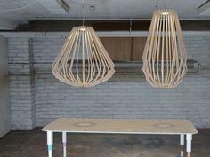 Sweet wooden chandeliers