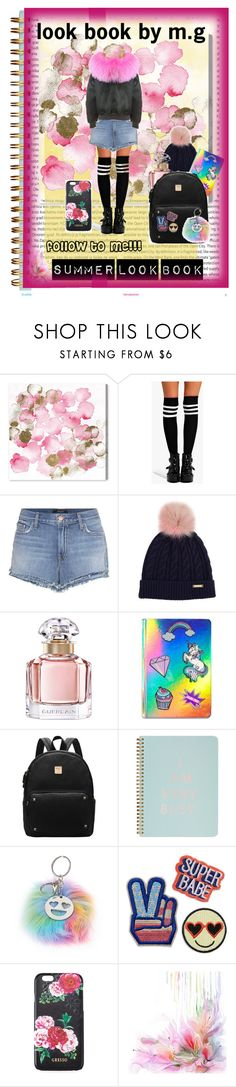 """""""look book"""" by galkinmichal on Polyvore featuring Oris, Oliver Gal Artist Co., Boohoo, J Brand, Burberry, Guerlain, Celebrate Shop, ban.do, claire's and Gresso"""