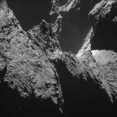 Stunning scene of Rosetta's Comet 67P/Churyumov–Gerasimenko taken from a distance of 10 km.