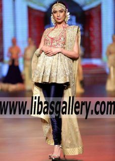 Amazing Peplum Outfit for Wedding Events- Formal Dinner and Parties - Effortlessly beautiful with a touch of whimsical.Beautiful embroidery and embellishments along with that flattering neckline will make heads turn. www.libasgallery.com #UK #USA #Canada #Australia #France #Germany #SaudiArabia #Bahrain #Kuwait #Norway #Sweden #NewZealand #Austria #Switzerland #Denmark #Ireland #Mauritius #Netherland  #BridalCouture #Couture #Delicate #Romance #Love #Bridesmaids #Glamour Formal gowns,
