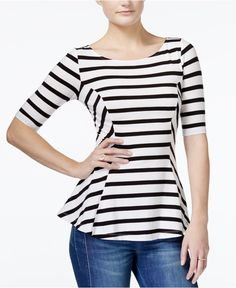 guess-stripe-boat-neck-peplum-top