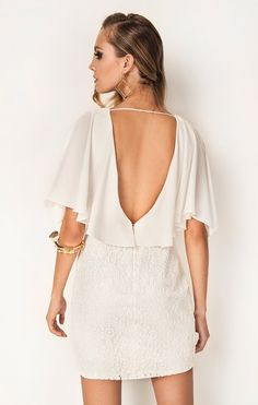 Vestido Composê Renda Off White PP