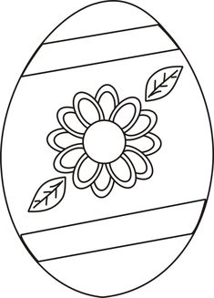 easter coloring pages | Easter Egg with Flower Coloring Page | Greatest Coloring Book