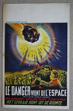 SCI FI Danger From Outer Space Very Rare VINTAGE ORIGINAL Belgian movie poster | eBay