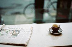 Coffee and newspaper. #morning #espresso #romantic