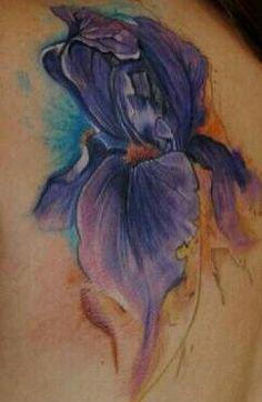 Purple watercolor..tattoo