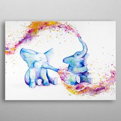 Design your everyday with art prints you'll love. Cover your walls with artwork and trending designs from independent artists worldwide. Animal Paintings, Animal Drawings, Art Drawings, Elephant Drawings, Elephant Paintings, Elephant Artwork, Desenho Tattoo, Poster Prints, Art Prints
