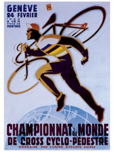 Cool vintage sports poster of cyclo-cross.