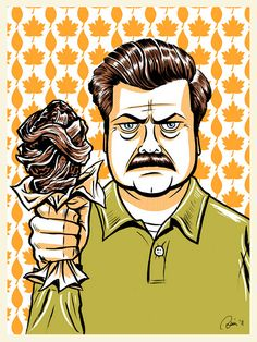 """what I said was """"bring me *all* of the bacon and *all* of the eggs you have"""" - Ron Swanson, how I love him"""