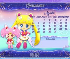 Sailor Moon Drops Calendario Agosto by moonpristine