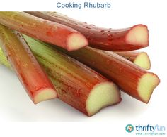 This is a guide about cooking rhubarb. Many of us are familiar with strawberry rhubarb pie, but less so with other ways of cooking rhubarb.