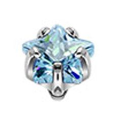Dermal steen aqua Anchor Piercing, Dermal Anchor, Piercings, Aqua, Engagement Rings, Floral, Jewelry, Products, Dermal Piercing