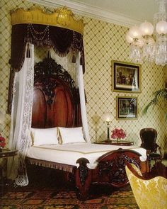 The White House The Private Residence Lincoln Bedroom Looking southeast The Lincoln bed is a rosewood bed nearly 8 feet long and 6 feet wide with an enormous headboard and large footboard decorated with carved grapes grapevines and birds. It was purchased by First Lady Mary Todd Lincoln during her extensive redecorating efforts around 1861. It was originally put in the Prince of Wales Guest Room (today's Private Dining Room). Young Willie Lincoln died in the White House at age 11 in the bed…