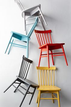 Get excited, dining room tables. Our crush, The Windsor chair, is coming for you. And just in time for holiday guests! One of each color, please. Windsor Dining Chairs, White Dining Chairs, Dining Chair Set, Dining Room Chairs, Dining Furniture, Target Dining Chairs, Side Chairs, Colored Dining Chairs, Green Chairs