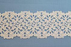 "3 1/2"" White Swiss Venise Lace, Ornate Design"