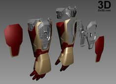 Printable Iron Man Mark XLII (Model: MK Gauntlet / Hand / Glove / Forearm with Missile Rocket Shooter Iron Man Cosplay, Iron Man Wallpaper, Iron Man Avengers, Marvel Comics, Marvel Heroes, Armadura Do Batman, Iron Man Kunst, Iron Man Hand, Iron Man Arc Reactor
