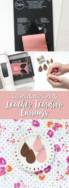 Make a statement with these beautiful, lightweight DIY Leather Teardrop Earrings that you can create in ten minutes. | pitterandglink.com