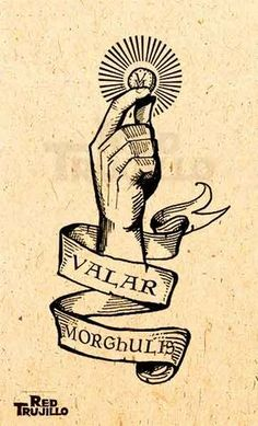 2017 trend Tattoo Trends - flash Valar morghulis tattoo design by redtrujillo on. - New Tattoo Trend Game Of Thrones Tattoo, Tatouage Game Of Thrones, Arte Game Of Thrones, Game Of Thrones Quotes, Valar Morghulis, Valar Dohaeris, Game Of Throne Poster, Tattoo Magazin, Game Of Trones