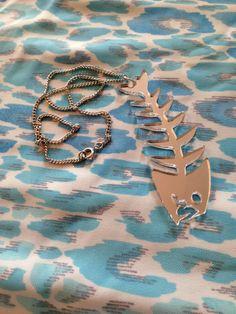 Silver Fish Skeleton Necklace