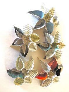"""De jolies fleurs à faire à partir de simples demi-cercles assemblés entre eux (de """"avec ses 10 petits doigts"""")"""