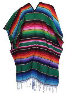 Classic Mexican Serape Poncho Pancho Adult Costume Green Sanyork Fair Trade http://www.amazon.com/dp/B00J9YQYSU/ref=cm_sw_r_pi_dp_HvsOub14CA3BM