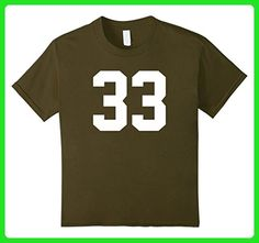 Kids 33 Sports Number T-Shirt for Team Fan My Favorite Player #33 8 Olive - Sports shirts (*Amazon Partner-Link)