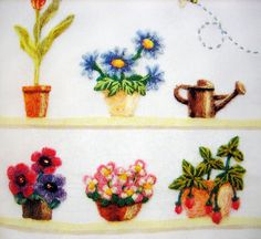 https://flic.kr/p/7hgs5U | 9784309281841 wool felt embroidery japanese craft book | the book was just published in the winter of 2009, and it showcases an amazing and beautiful technique that uses needle felting but applies the process to fabric, so wool is applied to the cloth using a felting needle.  the effect is stunning, like embroidery or even sometimes similar to painting on fabric.   the colors and textures are very rich, and projects have a great variety that is sure to inspire…