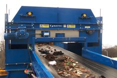 Recycling-in-Action - An Electro Overband Magnet recovering ferrous metals from construction & demolition #waste #Recycling Bunting, Metals, Magnets, Recycling, Around The Worlds, Action, Construction, Building, Garlands