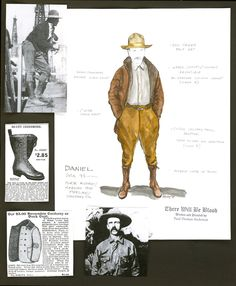 Mark Bridges costume design.  There Will Be Blood, 2007