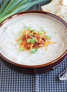 Baked Potato Soup Recipe on twopeasandtheirpod.com