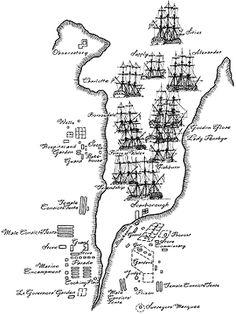 First fleet position in harbour