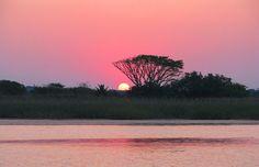 Sunset at St Lucia KwaZulu Natal Coast South by AfricanGranny Adventure Style, Adventure Travel, Apartheid Museum, Landscape Materials, Kwazulu Natal, Kruger National Park, Holiday Destinations, South Africa, Sunrise