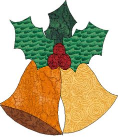 Free Christmas Table Topper Applique the Bells